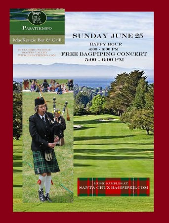 Pasatiempo Bagpiping Poster June 2017